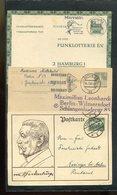 Deutschland / Int. Posten Mit Rd. 120 Postkarten Ab Deutsches Reich O (17399-350) - Lots & Kiloware (mixtures) - Max. 999 Stamps