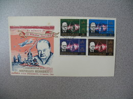 FDC 1966 Nouvelles Hébrides Sir Winston Churchill - FDC