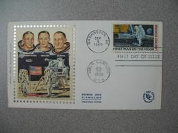FDC 1969 First Man  On The Moon  - Premier Homme Sur La Lune  Washington DC - Sobre Primer Día (FDC)