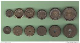 Pesi English Coin Weights Ounces Once Poids Monétaires  6 Pieces  XIX Sec - Strumenti