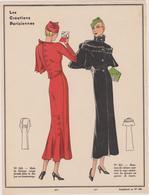 Gravure Mode De Paris Annes Vers 1930 Les Creations Parisiennes - Publicités