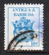 Antigua 1986 Single 10c Stamp Showing Arms Of Antigua. - Antigua And Barbuda (1981-...)