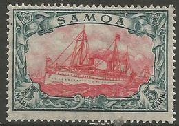 German Samoa - 1915 Kaiser's Yacht 5mk MH *   Sc 73 - Colony: Samoa
