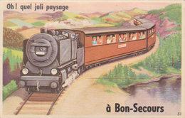 """Bon - Secours  """" Oh ! Quel Joli Paysage ! """" Carte à Système - Bonsecours"""
