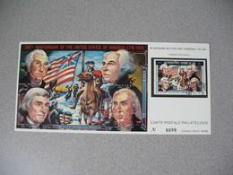 Carte Postale  Laos  1976 - Bi-centenaire Des Etats-Unis D'Amérique  Tirage  N° 6699 - Laos