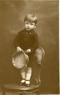 BOY WITH TAMBOURINE, NIÑO CON PANDERETA, ENFANT AVEC PANDERETA TAMBORIN. POSTAL CPA CIRCA 1904 NOT CIRCULATED -LILHU - Retratos