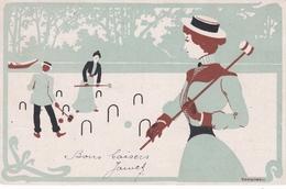 Sport  ,  Il Croquet  - - Cartoline