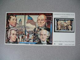 Carte Postale  Laos  1976 - Bi-centenaire Des Etats-Unis D'Amérique  Tirage  N° 3430 - Laos