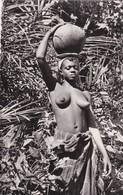 Thèmes > Ethniques & Cultures > Afrique Tchad Kokobry Femme Seins Nues Porteuse D'eau - África