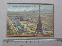 CHROMO Souvenir De L'Exposition Universelle De 1889: LA TOUR EIFFEL - Trade Cards