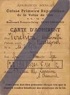 CARTE ASSURANCES SOCIALES A SAINT CHAMOND Concernant Madame Verchere Antoinette Née Le 14/02/1891 à Lyon - Maps
