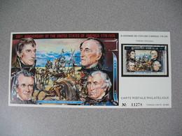 Carte Postale  Laos  1976 - Bi-centenaire Des Etats-Unis D'Amérique  Tirage  N° 11278 - Laos