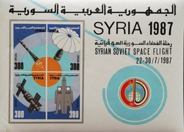 Syria  1987 Syria-Soviet Space Joint Flight S/S  POSTAGE FEE TO BE ADDED ON ALL ITEMS - Syria