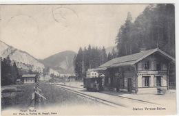 Versam-Safien - Station Mit Güterwagen Der RhB - 1907     (P-169-70607) - GR Grisons