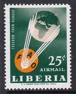 TIMBRE NEUF DU LIBERIA - CAMPAGNE MONDIALE CONTRE LA FAIM N° Y&T PA 139 - Against Starve