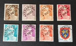 Timbres Préoblitérés Neufs Sans Charnière N° 95-97-99-100-101-102-103A-105 Lot 13 - 18% De La Côte - Voorafgestempeld