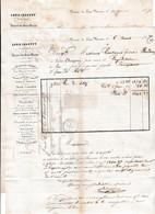 1857 - VERRERIE Du FRAIS MARAIS Lez DOUAI - Louis CHAPPUY - Eau De SELTZ - - Historische Documenten