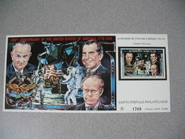 Carte Postale  Laos  1976 - Bi-centenaire Des Etats-Unis D'Amérique  Tirage  N° 1769 - Laos