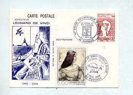 Carte Postale 1.60 Philexfrance Cachet Puteaux Salon Suisse + Puteaux De Vinci + Fdc De Vinci Illustré - Postal Stamped Stationery