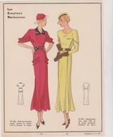 Gravure Mode De Paris Annes Vers 1930 Les Creations Parisiennes Martial Armand - Publicités