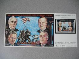 Carte Postale  Laos  1976 - Bi-centenaire Des Etats-Unis D'Amérique  Tirage  N° 11276 - Laos