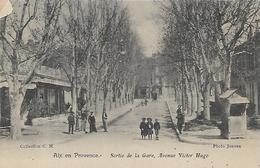 13, Bouches Du Rhone, AIX EN PROVENCE, Sortie De La Gare, Avenue Victor Hugo, Scan Recto Verso - Aix En Provence
