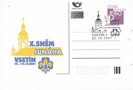33091. Entero Postal VSETIN (Republica Checa) 2001. SCOUT. X Snem Junaka - Enteros Postales