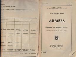 MANUEL MILITAIRE De 1966 JOURNAL OFFICIEL N°66-144 ARMÉE Règlement De Discipline - Documents
