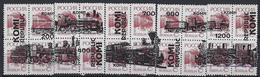Russia  Local Komi.5 Blocks Of 4 Stamps.Locomotives 2 Trains/Railway/ Cinderella - Treni