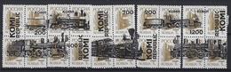 Russia  Local Komi.5 Blocks Of 4 Stamps.Locomotives 3 Trains/Railway/ Cinderella - Treni