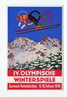 !!! PRIX FIXE : CARTE DES JEUX OLYMPIQUES DE 1936 A GARMISCH-PARTENKIRCHEN - Winter 1936: Garmisch-Partenkirchen