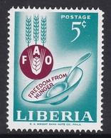 TIMBRE NEUF DU LIBERIA - CAMPAGNE MONDIALE CONTRE LA FAIM N° Y&T 385 - Tegen De Honger