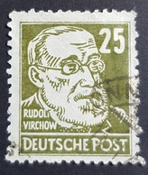 1948 Rudolf Virchow, Famous Germans, Russian Zone, Germany, *,**, Or Used - Gebraucht