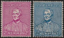 ~~~ Ierland Ireland 1954 - Catholic University - Mi. 122/123 (o) - CV 12.00 Euro  ~~~ - Gebruikt