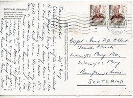 1976 Portugal Postcard Funchal Madeira  Posted To UK - Postmark Collection