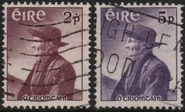 ~~~ Ierland Ireland 1957 - Thomas O'Crohan - Mi. 130/131 (o) - CV 9.00 Euro  ~~~ - 1922-37 Stato Libero D'Irlanda