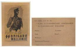 Cpa SS Brigade Wallonie - Guerre 1939-45