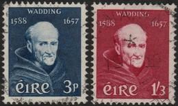~~~ Ierland Ireland 1957 - Lucas Wadding - Mi. 134/135 (o) - CV 10.00 Euro  ~~~ - Gebruikt