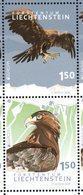 LIECHTENSTEIN, 2019, MNH, EUROPA, BIRDS, BIRDS OF PREY,2v - 2019