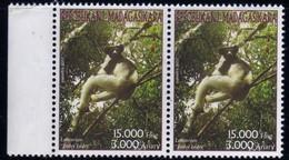 Madagascar 2003 Lémurien Indri Indri / Lemur / Animaux Mammifères  15000 Fmg  N° 1848  Neuf  MNH  TB  Paire - Madagascar (1960-...)