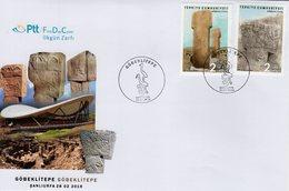 Turkey - 2019 - Göbekli Tepe - Potbelly Hill Archaeological Site - FDC (first Day Cover) - 1921-... République