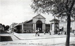 Cpa (17)--chateau-d'olèron -- La Place Du Marchè. - Ile D'Oléron