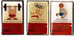 C57 - JO BARCELONE'92 - COOB  ATHLETISME - DRAPEAU J.O. - BASKET - Sponsor COCA COLA - Verso : SM - Coca-Cola