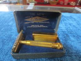 Ancien Rasoir Mecanique Gillette Avec Boite D'origine 5 - Lames De Rasoir