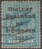 ~~~ Ierland Ireland 1922 - Provisional Overprint  - Mi. 8 (o) - CV 25.00 Euro  ~~~ - 1922 Voorlopige Overheid