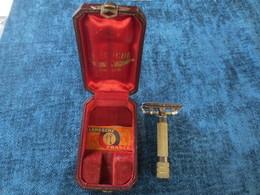 Ancien Rasoir Mecanique Leresche 2 Avec Boite D'origine - Lames De Rasoir