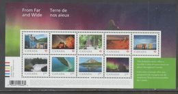 CANADA, 2018, MNH, FROM FAR AND WIDE, LANDSCAPES, WATERFALLS, MOUNTAINS, NORTHERN LIGHTS, ARCTIC, LIGHTHOUSES, SLT - Holidays & Tourism