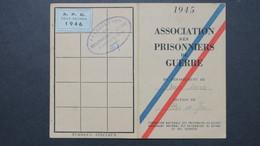 Carte De L'Association Des Prisonniers De Guerre Des Deux Sevres Stalag VI C Libéré Le 19 Avril 1945 - Storia Postale