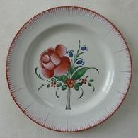 Assiette Décor Floral - Lunéville (FRA)