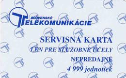 Slovaquie, Slovak Telecom Test - Service Chip Card, 4 999 Units - Slovaquie